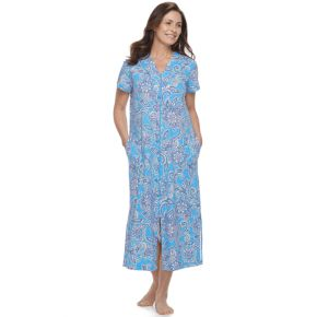Women's Miss Elaine Essentials Printed Long Robe