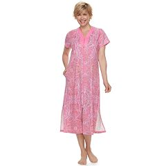 Women's Miss Elaine Essentials Long Paisley Robe