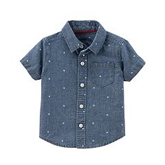 Baby Boy Carter's Star Print Chambray Button-Front Shirt