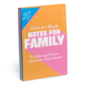 """Knock Knock """"Notes For Family"""" Fill-In-The-Blank Notepad"""