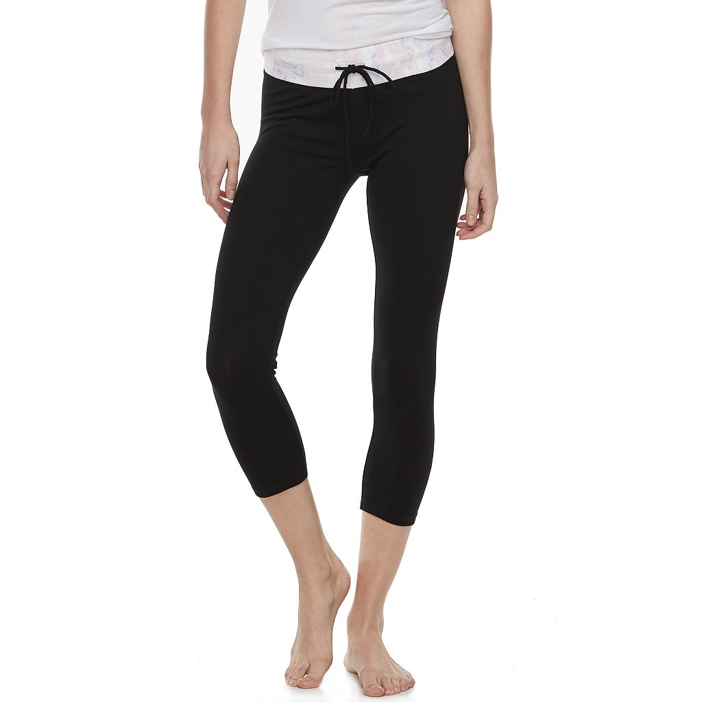 Juniors' SO® Crop Drawcord Yoga Leggings