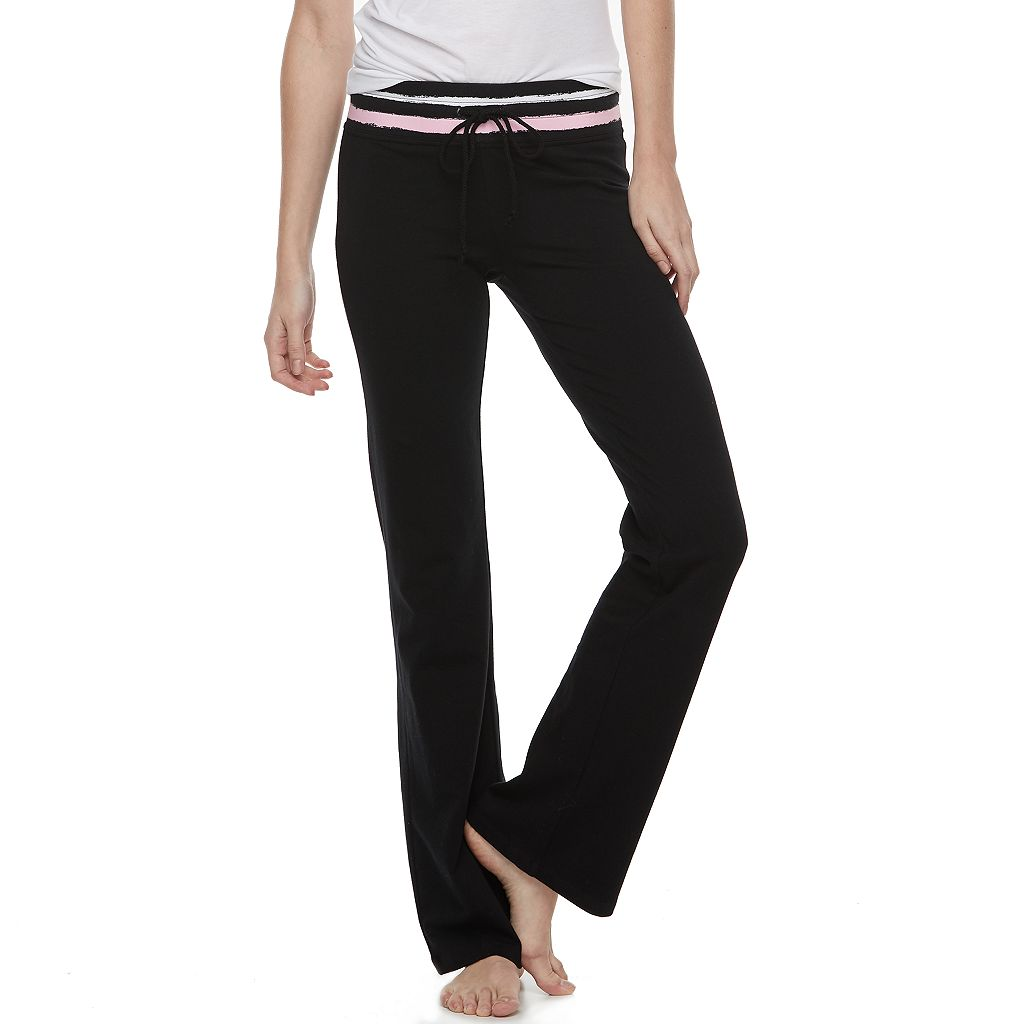Juniors' SO® Drawstring Bootcut Yoga Pants
