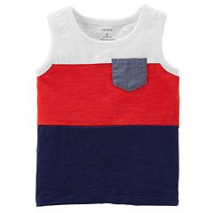 Baby Boy Carter's Colorblock Racerback Pocket Tank