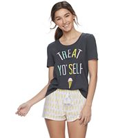 Juniors' SO® Graphic Tee & Shorts Pajama Set
