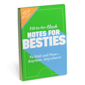"""Knock Knock """"Notes For Besties"""" Fill-In-The-Blank Notepad"""