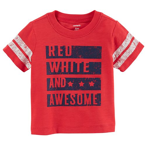 "Baby Boy Carter's ""Red, White And Awesome"" Graphic Tee"