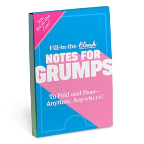 """Knock Knock """"Notes For Grumps"""" Fill-In-The-Blank Notepad"""