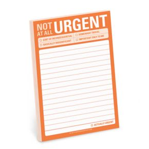 """Knock Knock """"Not At All Urgent"""" Sticky Notes"""