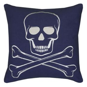 Rizzy Home Skull & Crossbones Throw Pillow