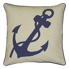 Rizzy Home Anchor & Rope Throw Pillow
