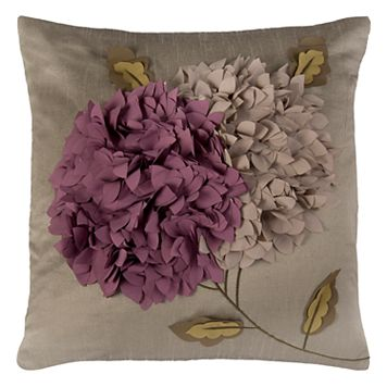 Rizzy Home Dimensional Floral Throw Pillow