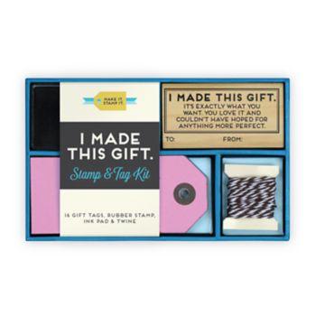 "Knock Knock ""I Made This Gift"" Stamp Kit 19-piece Set"