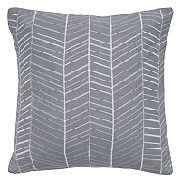 Rizzy Home Lines Embroidered Throw Pillow