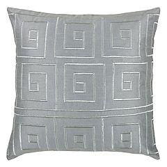 Rizzy Home Greek Key Throw Pillow