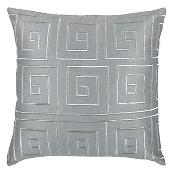 Rizzy Home Greek Key Throw Pillow