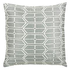 Rizzy Home Geometric Embroidered Shapes Throw Pillow