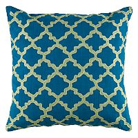Rizzy Home Moroccan Tile Embroidered Throw Pillow