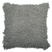 Rizzy Home Solid Shag Throw Pillow