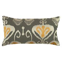 Rizzy Home Ikat Flourish Oblong Throw Pillow