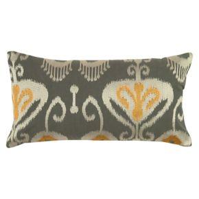 Rizzy Home Ikat Flourish Oblong Throw Pillow