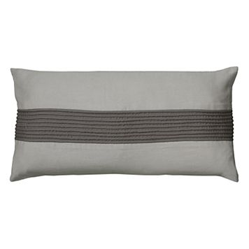 Rizzy Home Stripe Dimensional Oblong Throw Pillow