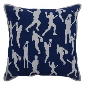Rizzy Home Sports Throw Pillow