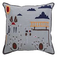 Rizzy Home Fire Truck Connect-The-Dots Throw Pillow