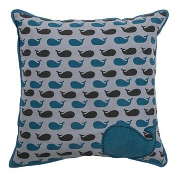 Rizzy Home Whale Throw Pillow