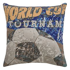 Rizzy Home World Cup Soccer Throw Pillow