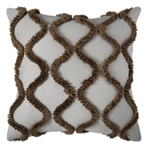 Rizzy Home Ogee Textured Throw Pillow