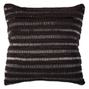 Rizzy Home Beaded Stripes Throw Pillow