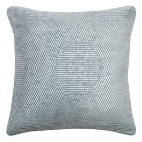 Rizzy Home Impressionistic Hexagon Throw Pillow