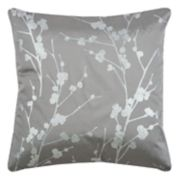 Rizzy Home Botanical Foil Print Throw Pillow