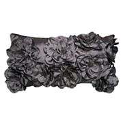 Rizzy Home Floral Applique Sequin Oblong Throw Pillow