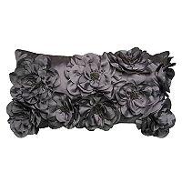 Rizzy Home Floral Applique Sequin Oblong Throw Pillow