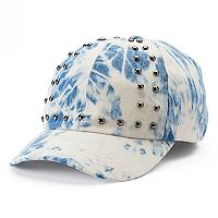 madden NYC Tie Dye Embroidered Denim Baseball Cap