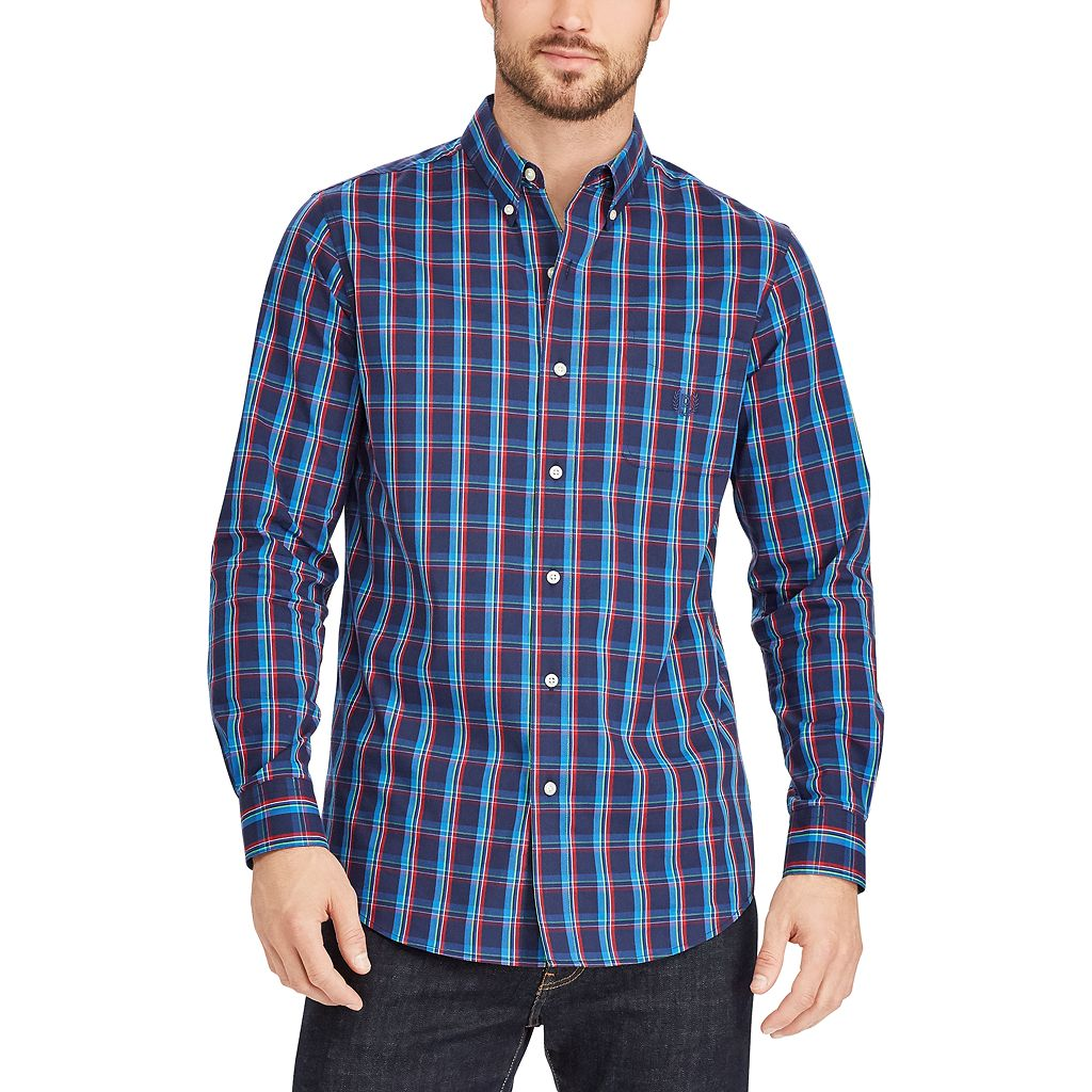 Big & Tall Chaps Striped Button Down