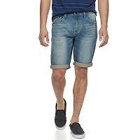 Men's Lazer Stretch Denim Roll Cuff Shorts