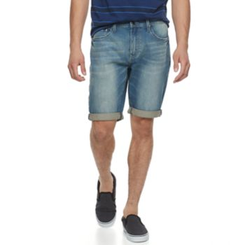 Men's Lazer Stretch Denim Roll Cuff Shorts