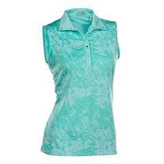 Plus Size Nancy Lopez Palmy Sleeveless Golf Polo