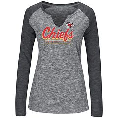 Women's Majestic Kansas City Chiefs Lead Play Tee