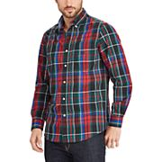 Big & Tall Chaps Checkered Button Down