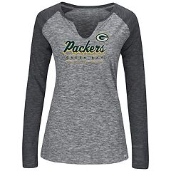 Women's Majestic Green Bay Packers Lead Play Tee