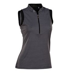 Plus Size Nancy Lopez Geo Sleeveless Golf Polo