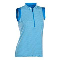 Plus Size Nancy Lopez Geo Sleeveless Golf Polo
