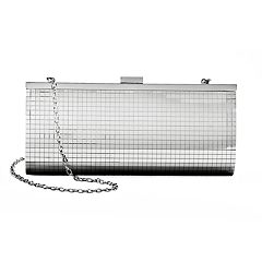 Lenore by La Regale Disco Mirror Top Frame Clutch