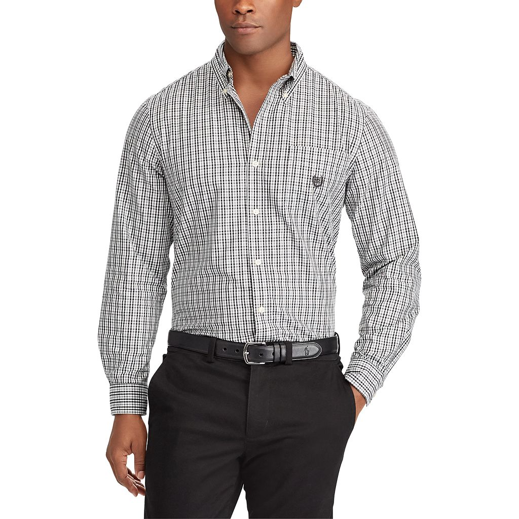Big & Tall Chaps Classic-Fit Button-Down Shirt