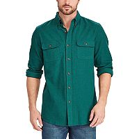 Big & Tall Chaps Classic-Fit Herringbone Button-Down Work Shirt