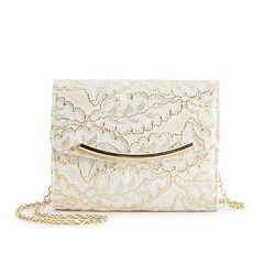 Lenore by La Regale Bridal Lace Flap Clutch