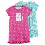 Girls 4-14 Carter's 2 pkNight Gown Set